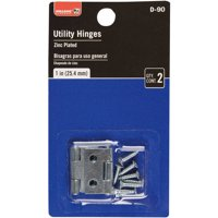 Bulldog Hardware 1 in. Utility Hinge, Zinc Plated, 2 Pack