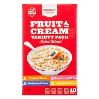 Instant Oatmeal Fruit & Cream Variety - 10ct - Market Pantry™