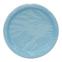Paper Plates, 9 in, Light Blue, 20ct