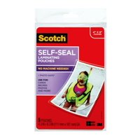 Scotch Self-Sealing Laminating Pouches, 5 count, 4in x 6in, 9.50 mil Thick