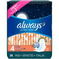 Always Ultra Thin Pads Overnight - 38 CT