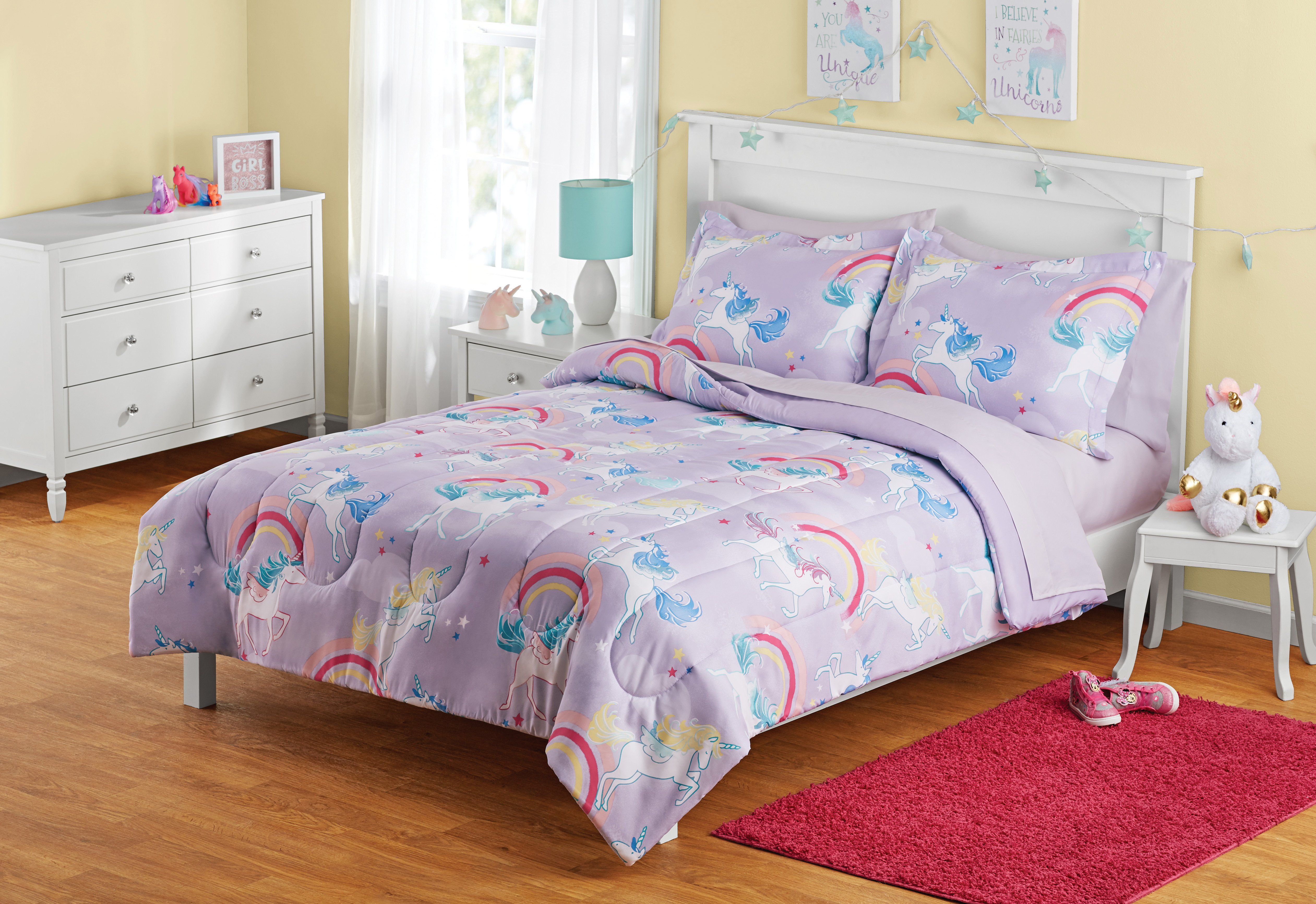 Your Zone Unicorn Bed-in-a-Bag Coordinating Bedding Set
