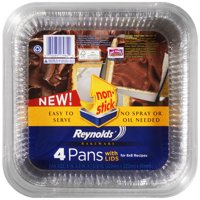 Reynolds Disposable Aluminum Cake Pans With Lids, 8x8 Inch, 4 Count