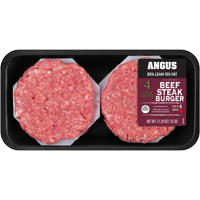 All Natural* 85% Lean/15% Fat Angus Ground Beef Patties 4 Count, 1.33 lb