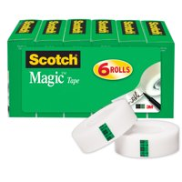Scotch Magic Tape Refill 6 Pack, 3/4 in. x 800 in., 6 Boxes/Pack