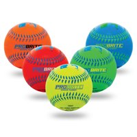 Franklin Sports Probrite Neon Rubber Teeball Single Ball, Colors Vary