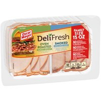 Oscar Mayer Deli Fresh Oven Roasted Turkey Breast & Smoked Ham Lunch Meat Variety Pack, 15 oz Package