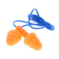 Hyper Tough Corded Reusable SIlicone Earplugs with Case, 1 Pair