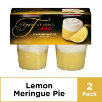 JELL-O Temptations Ready to Eat Lemon Meringue Pie Snack Cups, 4 ct - 13.4 oz Package