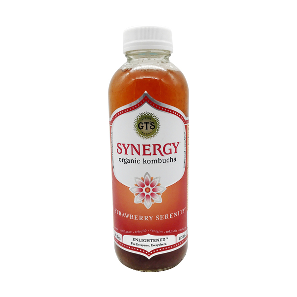 GT's Synergy Strawberry Enlightened Kombucha, 16 fl. oz.