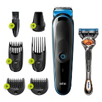 Braun MGK3245 7-in-1 Men's Rechargeable Wet & Dry Electric Shaver & Trimmer Kit for Beard & Hair Styling