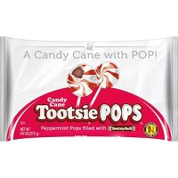 Tootsie Roll Holiday Candy Cane Tootsie Pops - 9.6oz