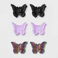 Butterflies Shape Plastic Claw Clips 6pc - Wild Fable™