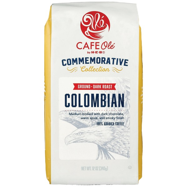 Cafe Ole by H-E-B Commemorative Collection Colombian Dark Roast Ground Coffee
