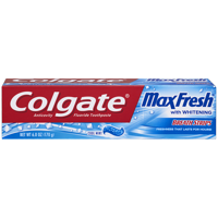 Colgate Max Fresh Toothpaste with Mini Breath Strips, Cool Mint - 6 Ounce