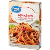 Great Value Frozen Spaghetti with Meat Sauce, 10 oz