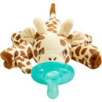 Philips Avent Soothie Snuggle Pacifier Holder with Detachable Pacifier, 0m+, Giraffe, SCF347/01