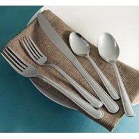 Mainstays Pearson Stainless Steel Flatware Set, 20 Pieces