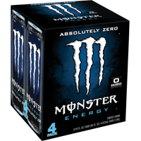Monster Absolutely Zero Energy Drink, 16 Fl. Oz., 4 Count