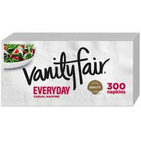 Vanity Fair Everyday Casual Napkins, Disposable White Paper Napkins
