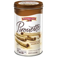 Pepperidge Farm Pirouette Crème Filled Wafers Chocolate Hazelnut Cookies, 13.5oz Tin
