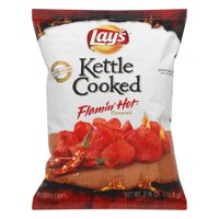 HI Lay's Kettle Cooked Potato Chips Flamin' Hot Flavored 2.5 Oz