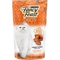 Fancy Feast Cat Treats, Duos Natural Rotisserie Chicken Flavor, 2.1 oz. Pouch