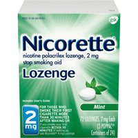 Nicorette Nicotine Lozenges to Stop Smoking, 2mg, Mint Flavor - 72 Count