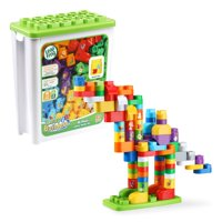 LeapFrog LeapBuilders 81-Piece Jumbo Box, Learning Blocks Toy for Kids