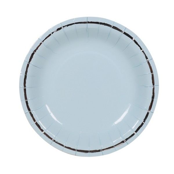 10ct Large Snack Plates Blue - Spritz™