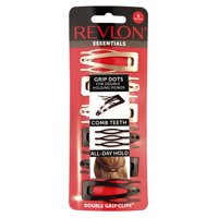 (2 Pack) Revlon Neutral Double Grip Hair Clips, 6 count