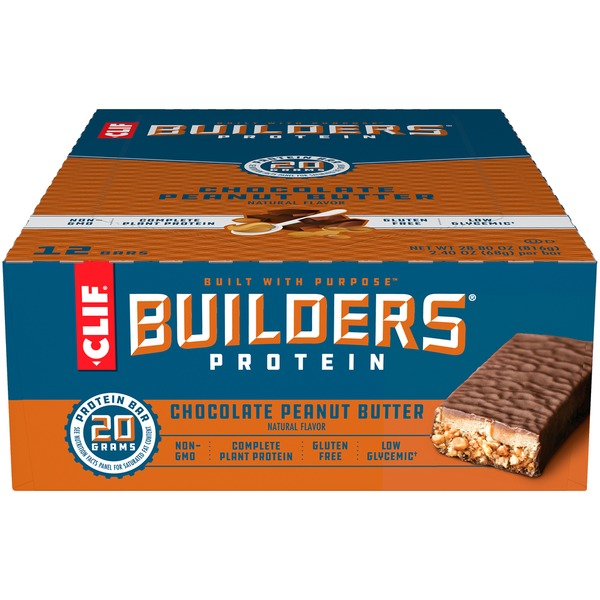 CLIF Bar Protein Chocolate Peanut Butter Protein Bars