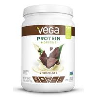 Vega Plant Protein & Greens Powder, Chocolate, 20g Protein, 1.1 Lb
