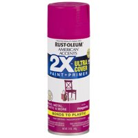 Magenta, Rust-Oleum American Accents 2X Ultra Cover, Satin Spray Paint, 12 oz