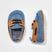 Baby Boys' Boat Shoes - Cat & Jack™ Blue/Brown