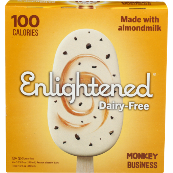 Enlightened Dessert Bars, Dairy-Free, Monkey Business, Frozen