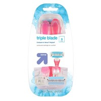 Women's Triple Blade Surround Disposable 3ct - Up&Up™
