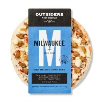 Outsiders Pizza Company Milwaukee Sausage & Cheese Curds Frozen Pizza - 22.4oz