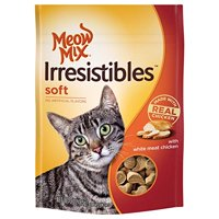 Meow Mix Irresistibles Cat Treats, Soft With White Meat Chicken, 3-Ounce Bag