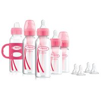 Dr. Brown's Baby First Year Transition Options+ Baby Bottles Gift Set, Pink
