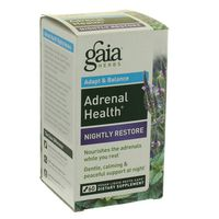 Gaia Herbs Adrenal Health, Nightly Restore, Adapt & Balance, Phyto-Caps