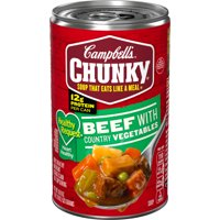 Campbell's Chunky Soup, Healthy Request Beef with Country Vegetables Soup, 18.8 Ounce Can
