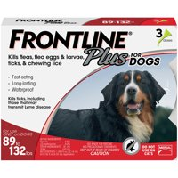 FRONTLINE Plus for Extra Large Dogs (89-132 lbs) Flea and Tick Treatment