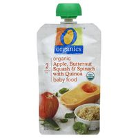 O Organics Baby Food, Organic, Apple, Butternut Squash & Spinach with Quinoa, 2 (6 Months & Up)