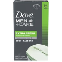 Dove Men+Care 3 in 1 Bar for Body, Face, and Shaving Extra Fresh 3.75 oz 6 Bars