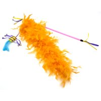 Kitty City Summertime Feather Cat Toy Wand, Size Large