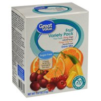 Great Value Sugar-Free Assorted Fruit Drink Mix Variety Pack, 1.87 Oz., 20 Count