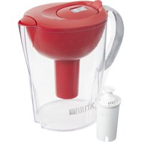 Brita Pacifica Water Filter Pitcher with Filter, 10 Cup - Red
