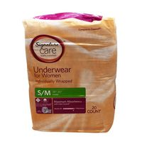 Signature Care Small/Medium Underwear For Women