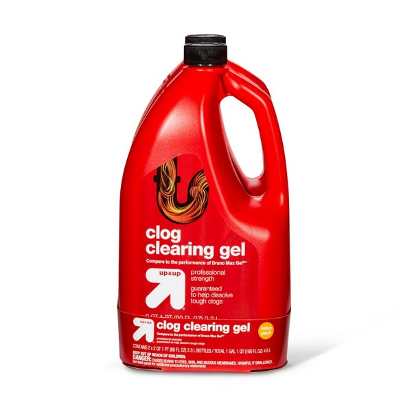 Clog Clearing Gel - 2pk/160oz - Up&Up™
